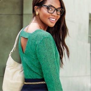 CAbi Green bountiful blouse sheer medium